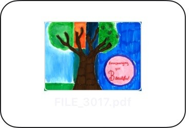 An image of artwork created for the Love Your Tree campaign